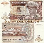 Zaire 5 Nouveaux Zaïres 1993 (D 90334xx D) UNC