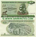 Zimbabwe 5 Dollars 1994 (BA47864xxU) UNC