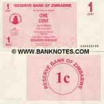 Zimbabwe 1 Cent 2006 (AA08046xx) UNC