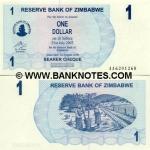 Zimbabwe 1 Dollar 2006 (AA03802xx) UNC
