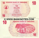 Zimbabwe 10 Dollars 2006 UNC