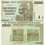 Zimbabwe 500000 Dollars 2008 (AC26170xx) UNC