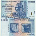 Zimbabwe 100 Trillion Dollars 2008 (PRE-ORDER) UNC