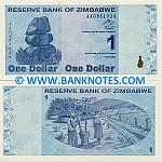 Zimbabwe 1 Dollar 2009 UNC